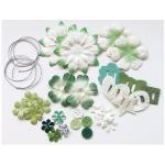 Blue Hills Studio™ Irene's Garden™ Potpourri Paper Flower & Embellishment Pack Greens: Green, Paper, 20 mm, 30 mm, 50 mm - 52 mm, Dimensional, (model BHS36), price per pack