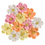 "Mixed Bouquet; Color: Multi; Material: Paper; Size: 1 1/4"" - 1 1/2""; Type: Dimensional; (model BHS107533), price per box"
