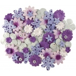 "Purples; Color: Purple; Material: Paper; Size: 2 1/2""; Type: Dimensional; (model BHS807), price per each"