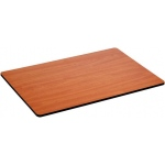"Alvin® WBR Series Cherry Woodgrain / White Drawing Board / Tabletop 24"" x 36""; Top Color: Brown, White/Ivory; Top Material: Melamine; Top Size: 24"" x 36""; (model WBR118), price per each"