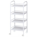 "Blue Hills Studio™ Storage Cart 4-Shelf White; Color: White/Ivory; Material: Plastic; Quantity: 4-Shelf; Size: 12""d x 14 1/2""w x 29 3/4""h; (model SH4WH), price per each"