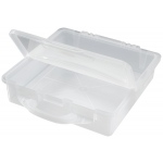 "Alvin® Stow & Go™ Storage Bin; Capacity: 300 Sheets; Color: Clear; Material: Plastic; Size: 12 1/2""d x 12 1/2""w x 3""h; (model ASB1313), price per each"