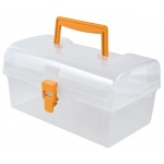 "Heritage Arts™ Small Art Tool Box: Clear, Plastic, 5""d x 8 1/2""w x 4 1/4""h, (model HPB0906), price per each"