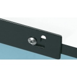 "Alvin® Metal Pencil Ledge 28"": Black/Gray, Metal, 28"", Ledge, (model MPL28), price per each"