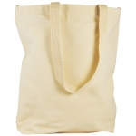 "Heritage Arts™ Natural Canvas Tote Bag Large: Brown, Canvas, Cotton, 4""d x 14""w x 15""h, Tote Bag, (model HC10102), price per each"