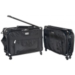Tutto® Storage on Wheels Medium Tote Bag with Interior Pockets; Color: Black/Gray; Size: Medium; (model 4220CF-M), price per each