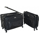 Tutto® Storage on Wheels Large Tote Bag with Interior Pockets; Color: Black/Gray; Size: Large; (model 5222CF-L), price per each