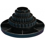 "Alvin® Spin-O-Tray Black; Color: Black/Gray; Material: Plastic; Size: 10 1/2""; (model 9893-2), price per each"