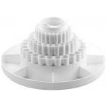 "Alvin® Spin-O-Tray White; Color: White/Ivory; Material: Plastic; Size: 10 1/2""; (model 9893-1), price per each"