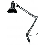 "Alvin® Swing-Arm Lamp Black with Fluorescent Bulb; Color: Black/Gray; Shade Size: Under 10""; Style: Swing-Arm; Wattage: 76-100w; (model CFL2540-B), price per each"