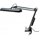 "Alvin® Fluorescent Task Light Black; Color: Black/Gray; Shade Size: 10"" & Up; Type: Clamp; Wattage: 8-25w; (model FL655-B), price per each"
