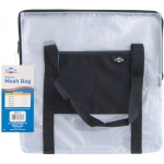 "Alvin® NBH Deluxe Series Deluxe Mesh Bag 13"" x 13"" ; Color: Black/Gray, Clear; Material: Mesh, Nylon, Vinyl; Size: 13"" x 13""; (model NBH1313), price per each"