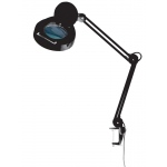 "Alvin® 1.75x Magnifier Lamp Black; Magnification: 1.75x; Size: 5""; Type: Desk; Wattage: 8-25w; (model ML255-B), price per each"