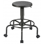 "Alvin® Utility Stool: No, Black/Gray, Foot Ring Included, Under 24"", Polyurethane, (model DC207A), price per each"
