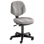 "Alvin® Gray Comfort Classic Deluxe Office Height Task Chair: No, Black/Gray, No, Under 24"", Fabric, (model CH290-60), price per each"