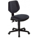 "Alvin® Black Comfort Classic Deluxe Office Height Task Chair: No, Black/Gray, No, Under 24"", Fabric, (model CH290-40), price per each"