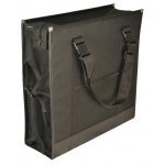 "Prestige™ Backpack Easel Bag; Color: Black/Gray; Size: 6""d x 17 3/4""w x 17 3/4""h; Type: Easel Bag; (model ABP1717), price per each"
