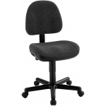 "Alvin® Black Premo Office Height Ergonomic Chair : No, Black/Gray, No, Under 24"", Fabric, (model CH444-40), price per each"