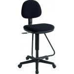 "Alvin® Viceroy Artist/Drafting Black Chair: No, Black/Gray, Foot Ring Included, 24"" - 29"", 30"" & Up, Under 24"", Fabric, (model DC999-40), price per each"