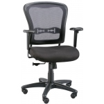 "Alvin® Mesh Back Paragon™ Manager's Chair: Arm Rest Included, Black/Gray, No, Under 24"", Fabric, (model CH760), price per each"