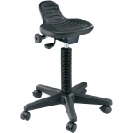 "Alvin® Synchro-Tilt Painter's Stool: No, Black/Gray, No, Under 24"", Polyurethane, (model DC206), price per each"