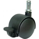 Alvin® Locking Chair Casters: Black/Gray, 5-Pack, Casters, (model LC4), price per set