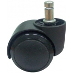 Alvin® Non-Locking Soft Chair Casters: Black/Gray, 5-Pack, Casters, (model SC4), price per set