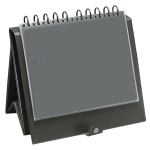 "Prestige™ Easel Binder 11"" x 8.5""; Color: Black/Gray; Material: Vinyl; Size: 8 1/2"" x 11""; (model EB1401), price per each"