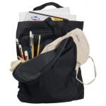 "Heritage Arts™ ArtMate™ Heavy-Duty Tote Bag: Black/Gray, Nylon, 3 1/2""d x 14""w x 17""h, (model AM300), price per each"