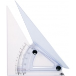"Alvin® 8"" Computing Trig-Scale Adjustable Triangle; Angle: Adjustable; Color: Clear; Material: Acrylic; Size: 8""; Type: Triangle; (model LX708K), price per each"