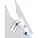 "Alvin® Tru-Angle™ 8"" Adjustable Triangle with Inking Edge; Angle: Adjustable; Color: Clear; Material: Acrylic; Size: 8""; Type: Triangle; (model 108CB), price per each"
