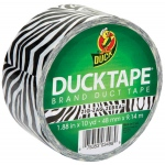 Duck Tape® Zebra Stripes Tape (Roll); Color: Multi; Format: Roll; Size: 10 yd; Type: Pattern; (model DT1398132), price per each