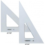 "Alvin® 8"" & 10"" Transparent Triangle Set; Angle: 30/60, 45/90; Size: 10"", 8""; Type: Triangle; (model AS810), price per set"