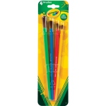 Crayola® Art & Craft 4-Piece Brushes: Natural Hair, Round, Multi, (model 05-3515), price per set