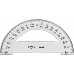 "Alvin® 6"" Semicircular Protractors: White/Ivory, Plastic, 6"", Protractor, (model P466), price per each"