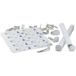 "Clipper Tags® Labeling System with 50 Tags and 2"" Clips: White/Ivory, Cardboard, Steel, 1 5/8"", 2"", Tube Tags, (model CT2), price per pack"