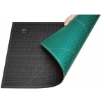 "Alvin® GBM Series 18"" x 36"" Green/Black Professional Self-Healing Cutting Mat: Black/Gray, Green, Grid, Vinyl, 18"" x 36"", 3mm, Cutting Mat, (model GBM1836), price per each"