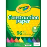 "Crayola® 9"" x 12"" Construction Paper Pack 96 Sheets; Color: Multi; Format: Sheet; Quantity: 96 Sheets; Size: 9"" x 12""; (model 99-3000), price per 96 Sheets"