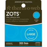Therm O Web Zots™ Clear Adhesive Boxed Dots Large; Color: Clear; Material: Glue; Shape: Round; (model TW3783), price per box