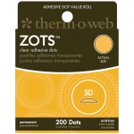 Therm O Web Zots™ Clear Adhesive Boxed Dots 3-D; Color: Clear; Material: Glue; Shape: Round; (model TW3786), price per box