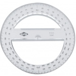 "Alvin® 6"" Circular Protractor; Color: Clear; Material: Polystyrene; Size: 6""; Type: Protractor; (model P236), price per each"