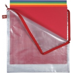 "Alvin® NB Original Series Mesh Bag 13"" x 13"" ; Color: Assorted, Clear; Material: Mesh, Vinyl; Size: 13"" x 13""; (model NB1313), price per each"