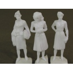 "Wee Scapes Architectural Model 1/2"" Female Figure: White, Pack of 3"