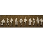 "Wee Scapes Architectural Model 1/8"" Male Figure: White, Pack of 10"