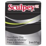 Sculpey® III Polymer Clay Black: Black/Gray, Bar, Polymer, 2 oz, (model S302042), price per each