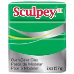 Sculpey® III Polymer Clay Emerald: Green, Bar, Polymer, 2 oz, (model S302323), price per each