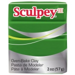Sculpey® III Polymer Clay Leaf Green: Green, Bar, Polymer, 2 oz, (model S302322), price per each