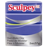 Sculpey® III Polymer Clay Purple: Polymer, (model S302513), price per each