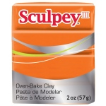 Sculpey® III Polymer Clay Sweet Potato: Orange, Bar, Polymer, 2 oz, (model S302033), price per each