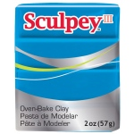 Sculpey® III Polymer Clay Turquoise: Blue, Bar, Polymer, 2 oz, (model S302505), price per each